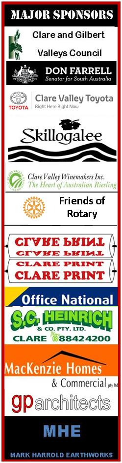 2017 Clare Rotary Sponsors